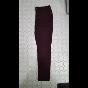 Maurices soft maroon stretch skinny jeans